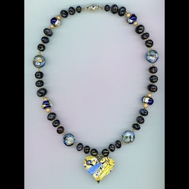 Custom Made Blues In My Heart Sapphire Necklace