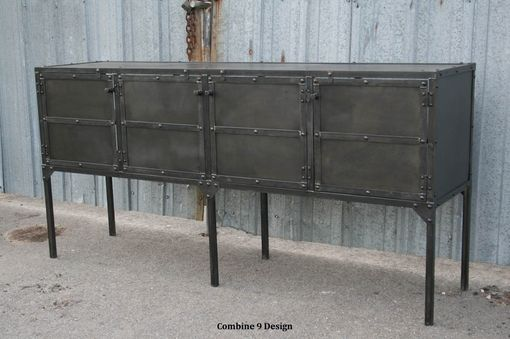 Custom Made Buffet/Hutch, Modern Industrial, Mid Century, Sideboard, Media Console, Rustic