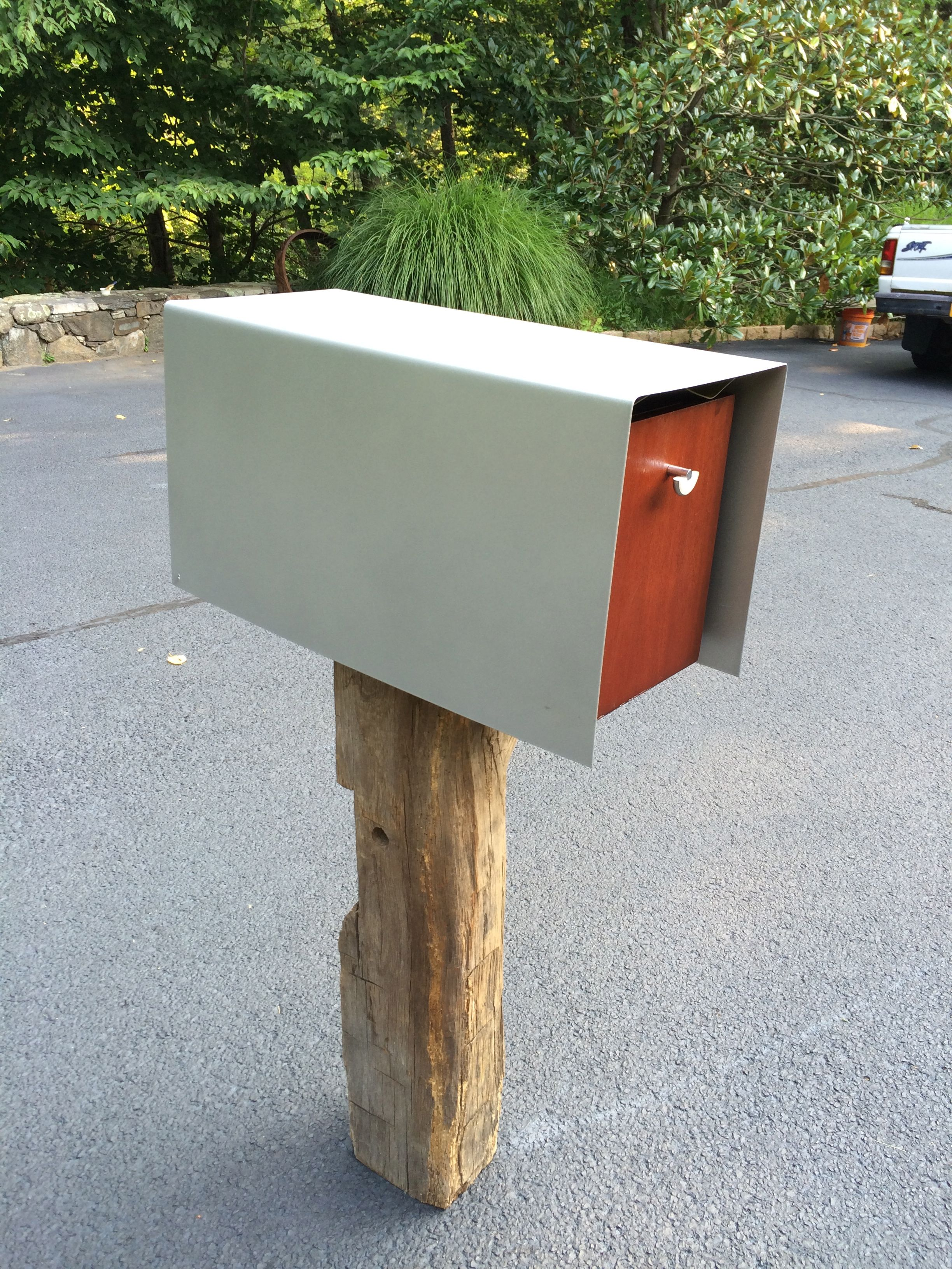 mailbox h products pedestal in double ground ft pin rockport mount mail post outdoor multi