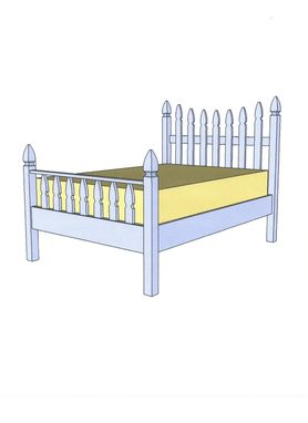 Custom Made Picket Fence Bed