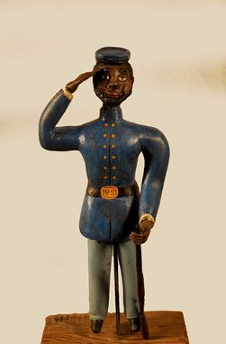 Custom Made Carving/Sculpture Of Civil War Soldier
