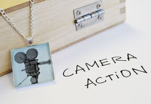 Custom Made Video Camera Pendant Necklace- Video Camera Jewelry