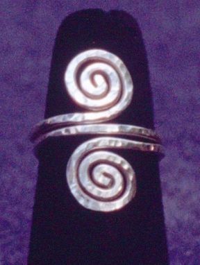 Custom Made Sterling Silver Spiral Double Coil Ring
