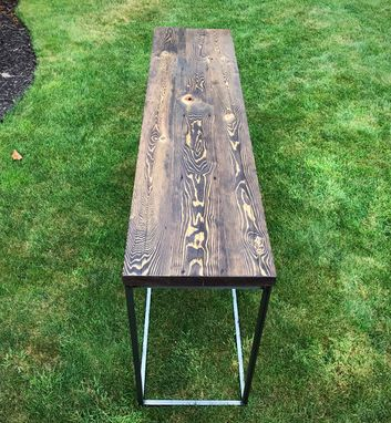 Custom Made Reclaimed Wood And Steel Console Table