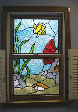 Custom Made Stained Glass Fish Panel