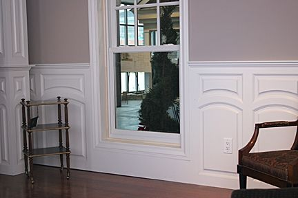 Custom Made Home Interior Display Center Custom Wainscoting – Hamilton Style
