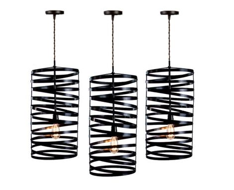 Custom Made Rustic Lighting - Spiral Nest Pendant Light