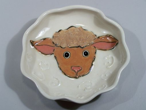 Custom Made Baby Lamb Childs Dish - Handpainted Porcelain