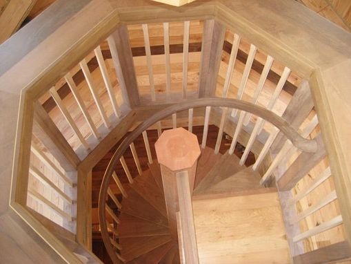 Custom Made Stairway With Octagonal Landing