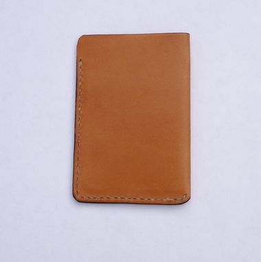 Custom Made Garny - №10 Leather Card Case From Whiskey Color Leather