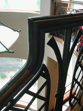 Custom Made Curved Stair Railing