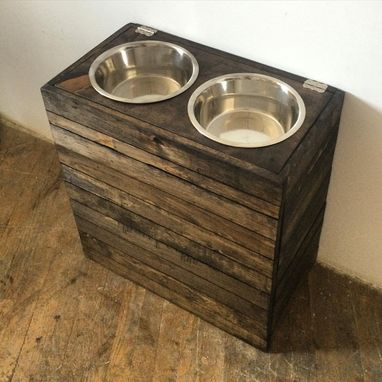 Custom Made Pet Feeder W/ Storage