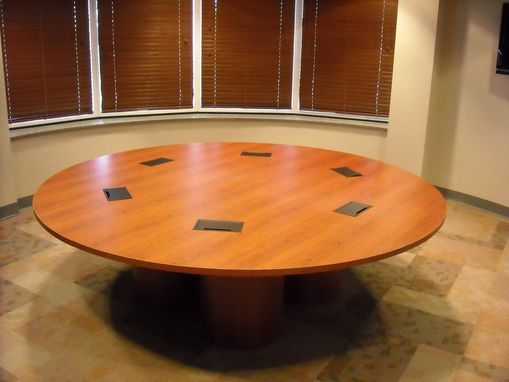 Custom Made 8 Ft Diameter Laminate Conference Table