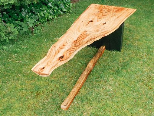 Custom Made Alaska Cedar Slab Cantilever Table