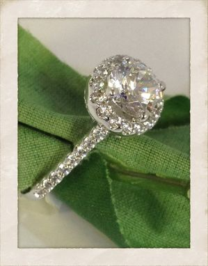 Custom Made White Gold And Diamond Art Deco Ring