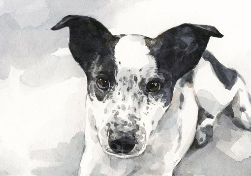 Custom Made Custom Dog Watercolor Portrait 5x7