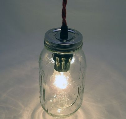 Custom Made Ball Mason Jar Hanging Pendant Light - Bmql-Svt