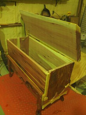 Custom Made Solid Wooden Slab Top Chest