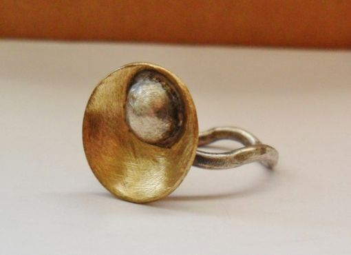 Custom Made Nugold And Sterling Silver Ring