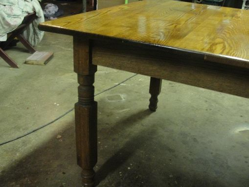 Custom Made Antique Chestnut & Oak Table, Circa 1900