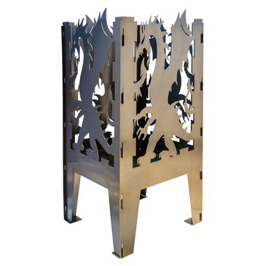 Custom Made Dragon Solid Steel Wood Burning Fire Pit