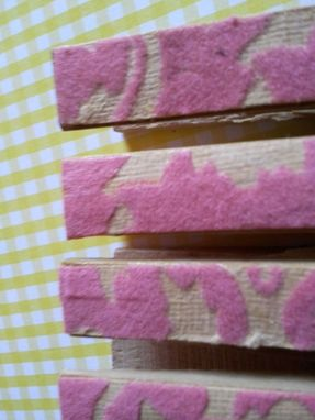 Custom Made Pink Flocked Paper Covered Clips