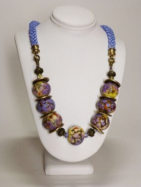 Custom Made Set - Blue Lavender Luster Or Pale Yellow Pearl Kumihimo Necklace And Matching Earrings