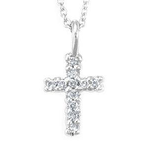 Custom religious necklaces and pendants custommade diamond cross pendant in 14k white gold cross pendant religious pendant aloadofball Images