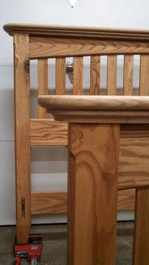Custom Made Red Oak Queensize Bed