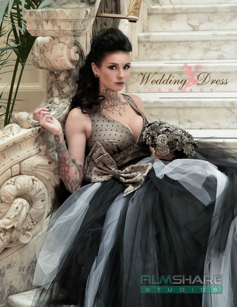 Buy Hand Made Couture Vintage Gothic Wedding Dress Retro Inspired