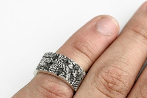 Custom Made Puzzle Piece Fingerprint Ring