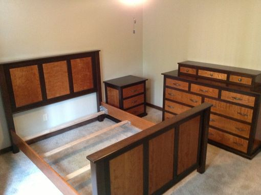 Custom Made Curly Cherry Black Walnut Bedroom