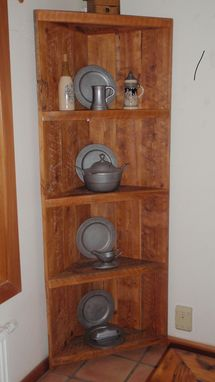 Custom Made Barnwood Corner Cupboard