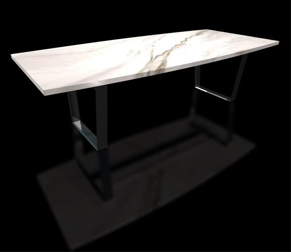 Custom White Marble Top Table By Scott Dworkin Designs