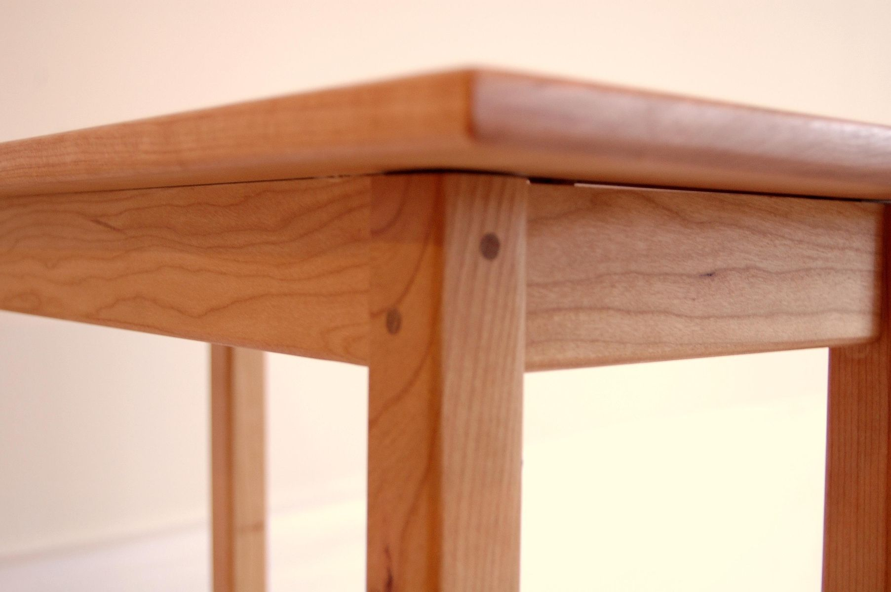 Buy a Handmade Long Cherry Shaker Style Side Table With Shelf
