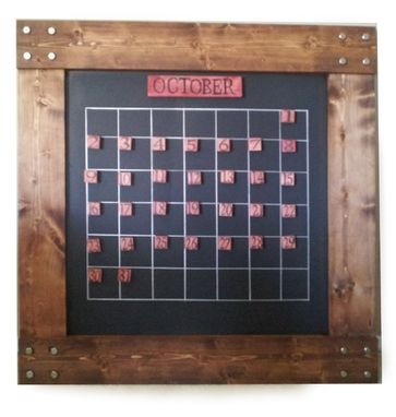 Custom Made Perpetual Wall Calendar