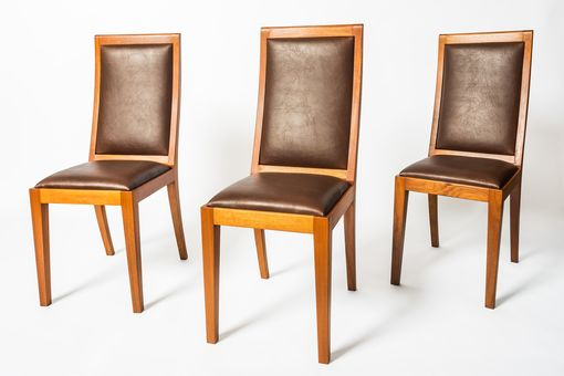 Custom Made Mahogany + Cocobolo Dining Chairs