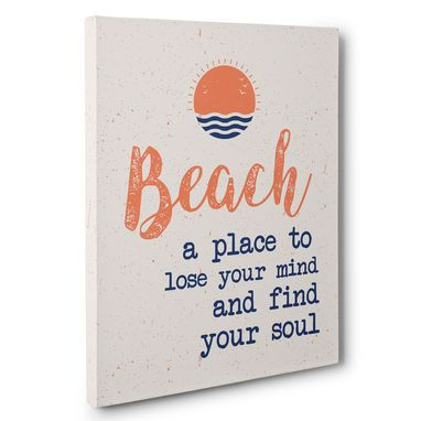 Custom Made Beach A Place To Lose Your Mind Canvas Wall Art
