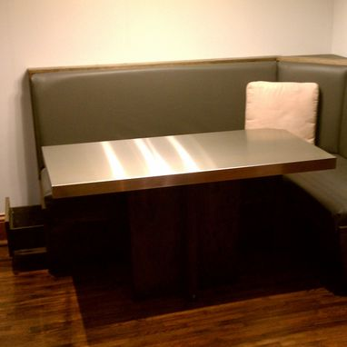 Custom Built In Booth And Table By Blue Company Inc