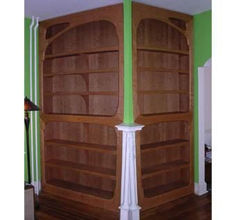 Custom Made Art Nouveau Bookshelves