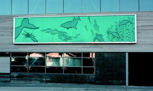 Custom Made Architectural Glass Mural