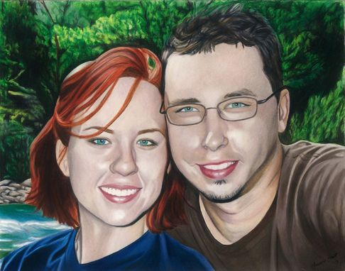 Custom Made Custom Colored Couples Portrait