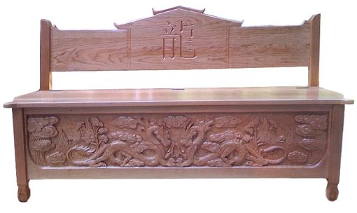 Custom Made Dragon Bench