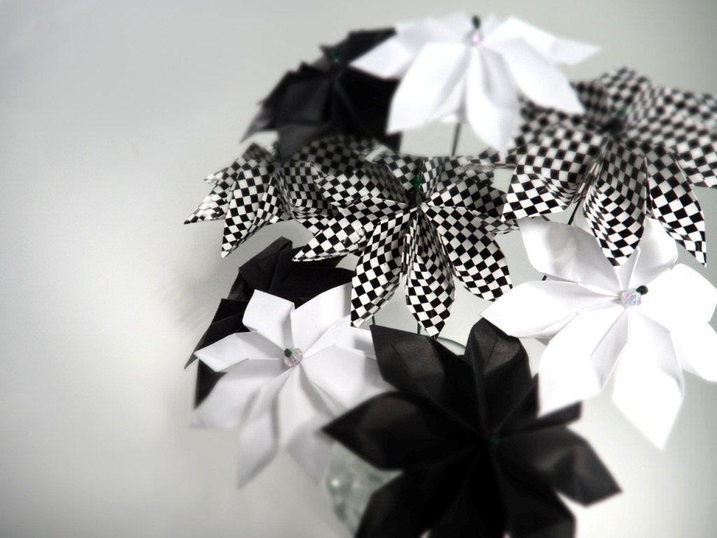 Origami Paper Flower Bouquet Akbaeenw