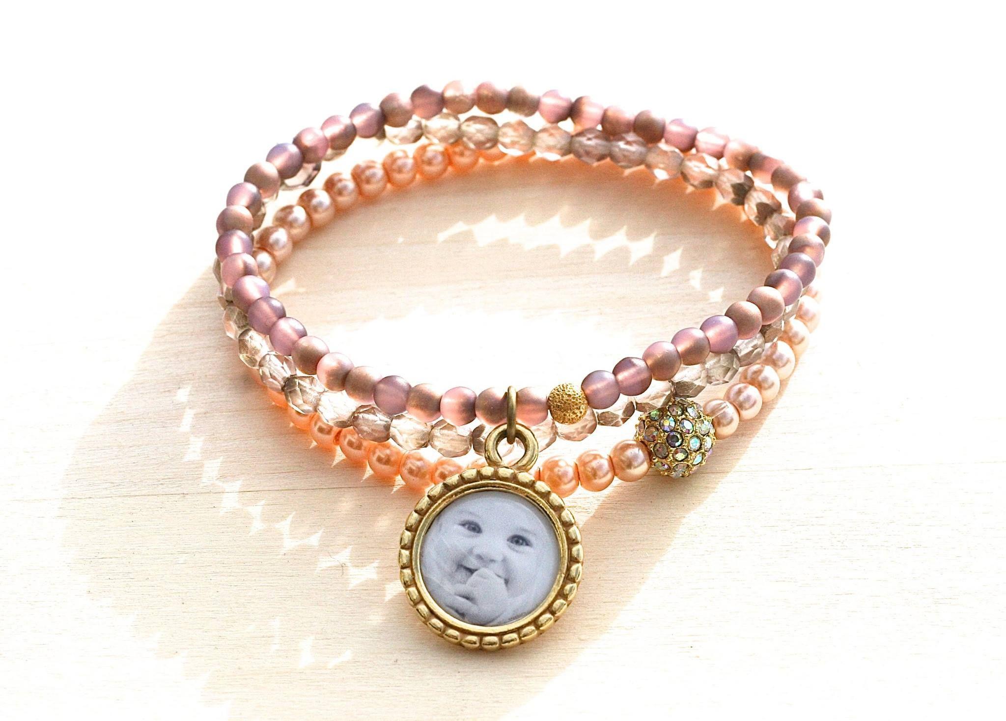 Custom Made Photo Bracelet Gift For Mom New Mother S Day