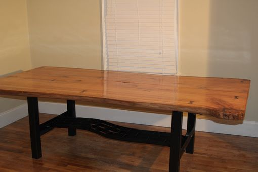 Custom Made Live Edge Oak Table