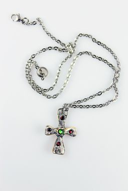 Custom Made Small Silver Religious Cross Necklace