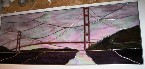 Custom Made Stained Glass Panel- San Francisco