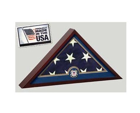 Custom Made Coast Guard Flag Display Case - No Flag