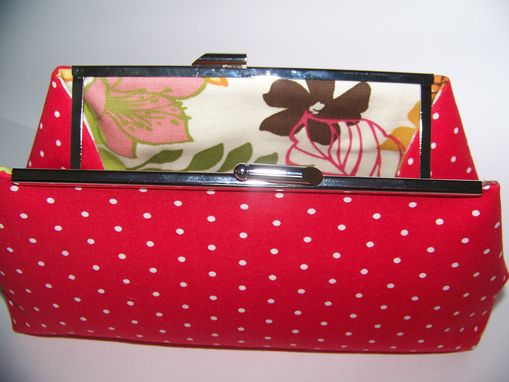 Custom Made Red/White Polka Dot Clutch  Free Shipping